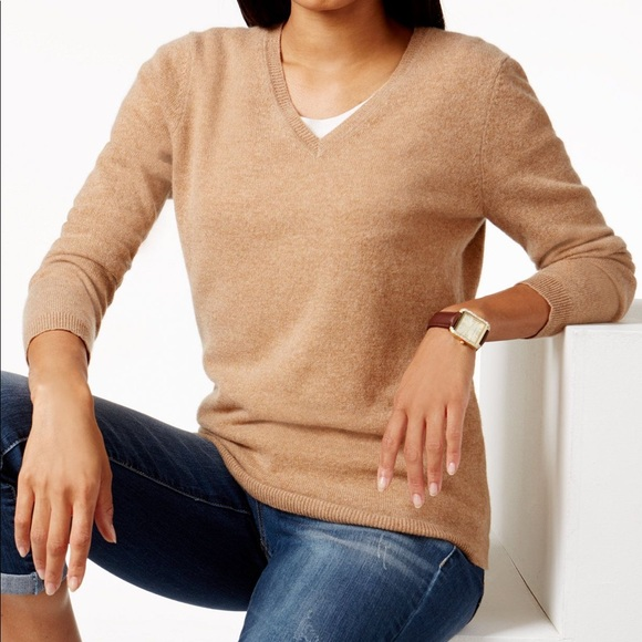 Charter Club Sweaters - Cashmere V Neck Sweater